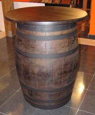 Muebles rusticos barril barricas y toneles for Barriles de madera bar